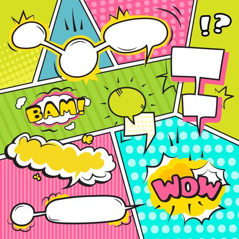 Speech Bubble Banners Set vector