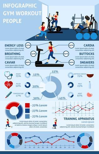 sportschool training infographics vector