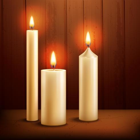 Kaarsen realistische achtergrond vector
