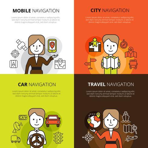 Navigatie ontwerpconcept vector