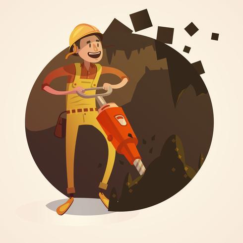 Mijnbouw concept illustratie vector