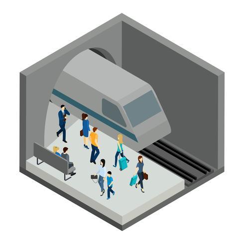 Underground mensen illustratie vector