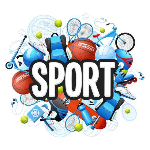 Zomer sport concept vector
