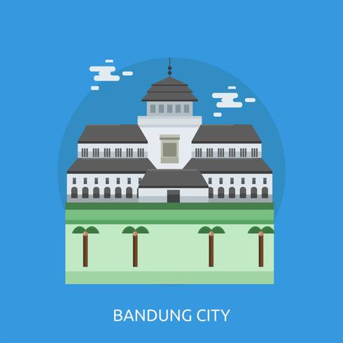 Bandung City Conceptuele afbeelding ontwerp vector