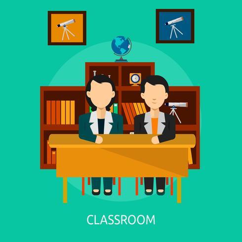 Klaslokaal Conceptueel illustratieontwerp vector