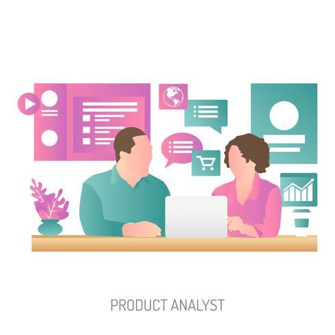 Productanalist Conceptuele illustratie Ontwerp vector