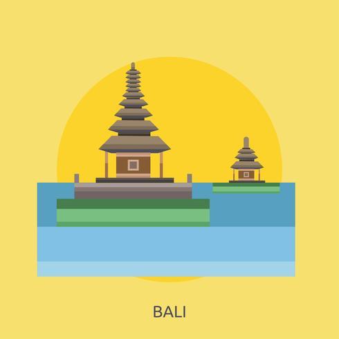 Bali Conceptuele afbeelding ontwerp vector