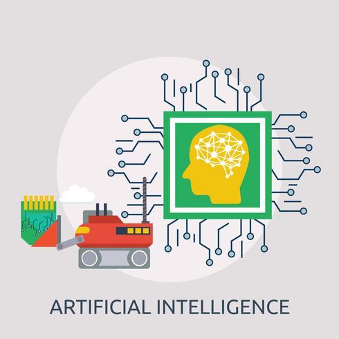Kunstmatige intelligentie Conceptuele afbeelding ontwerp vector