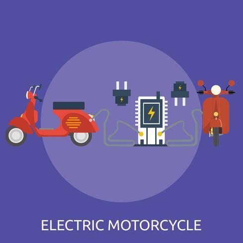 Elektrisch motorfiets Conceptueel illustratieontwerp vector