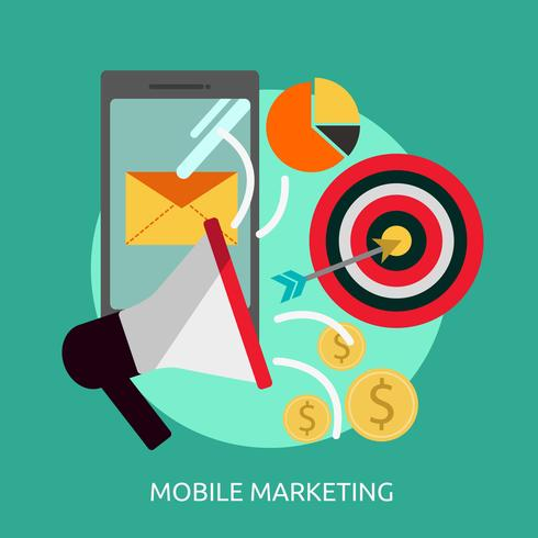 Mobile Marketing Conceptuele afbeelding ontwerp vector