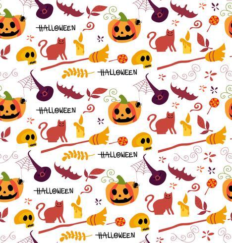 schattig Halloween-patroon naadloos voor achtergrond vector