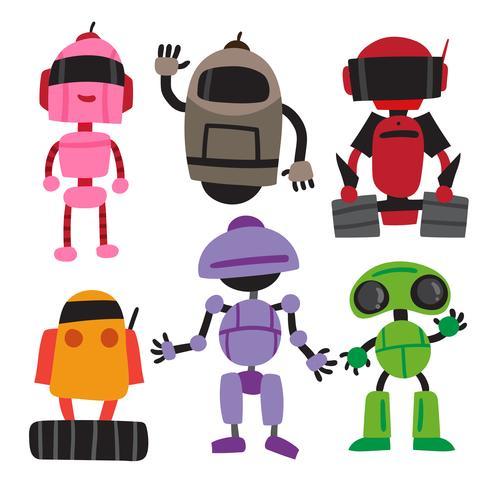 robot vector collectieontwerp