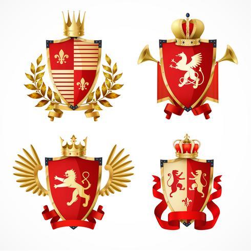 Heraldische wapenschildenset vector