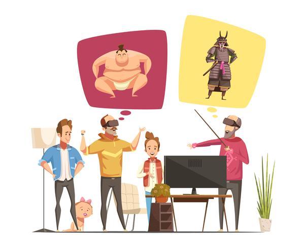 Familie hobby's ontwerpconcept vector