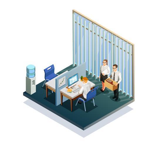 Isometrische Recruitment Mensen vector