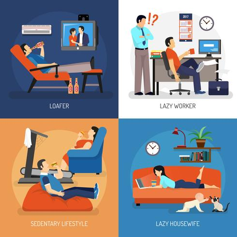 Lazy People-composities vector