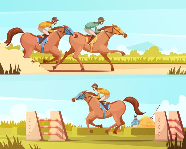 Paardensport Sport Horizontale Banner vector