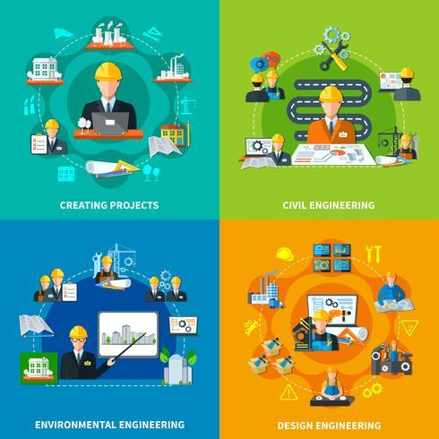 projectie ontwerp workflow concept vector