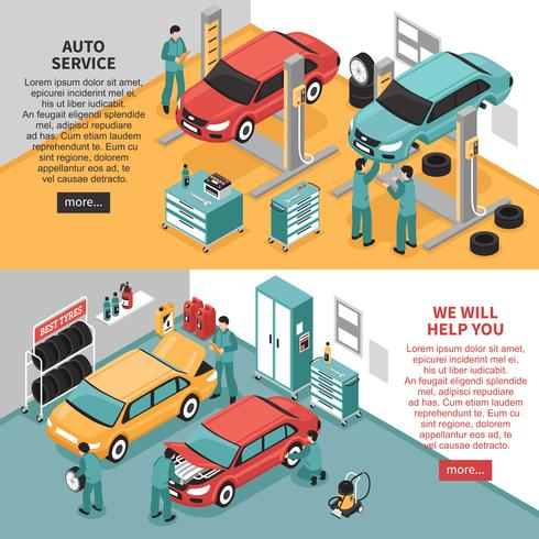 Auto service banners vector