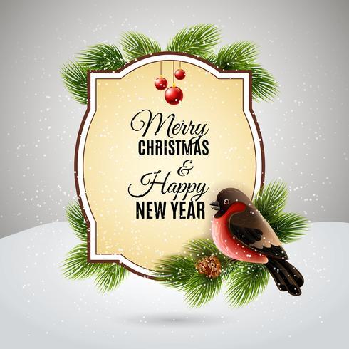 Kerst decoratie frame vector