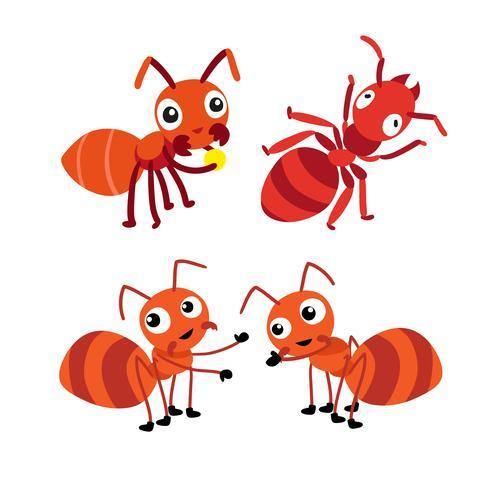 mierenkarakter vectorontwerp vector