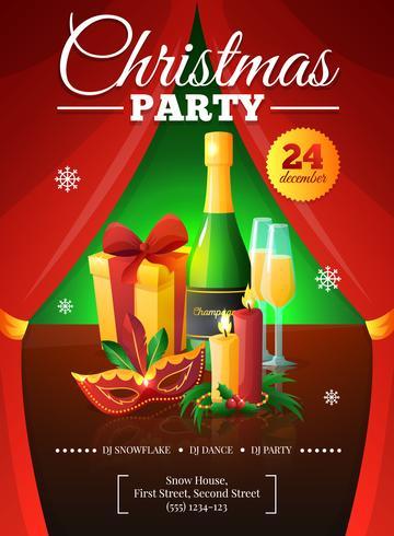Kerstfeest Poster vector