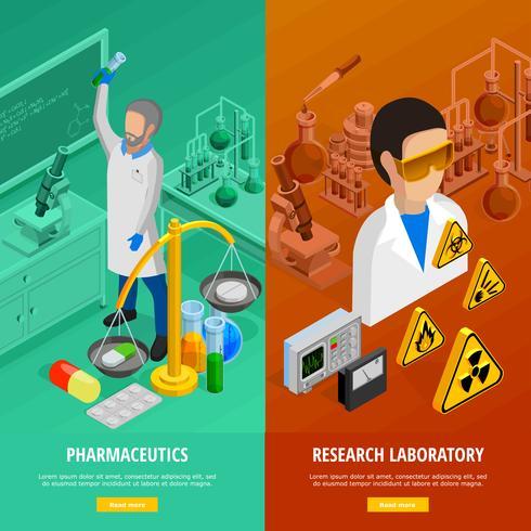 Wetenschap verticale banners instellen vector