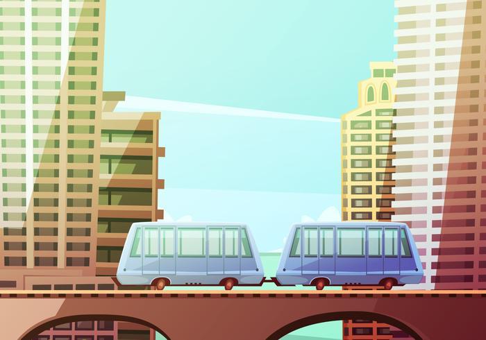 Miami Opgeschort monorail vector