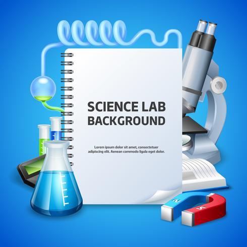 Science Lab-achtergrond vector