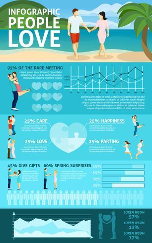 Mensen verliefd Infographics vector