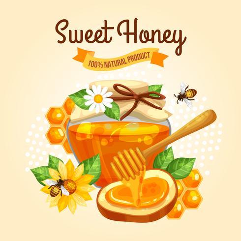 zoete honing poster vector
