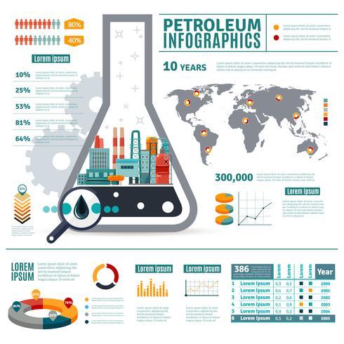Aardolie-industrie Infographics vector