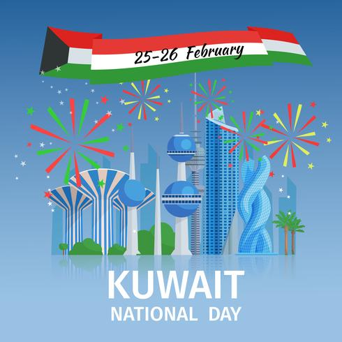 Koeweit National Day Poster vector