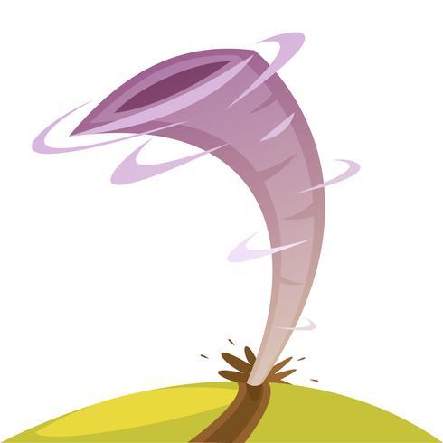 Tornado Cartoon afbeelding vector