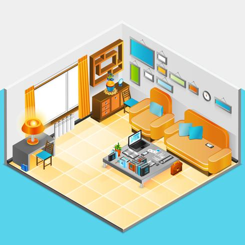 huis interieur ontwerp vector