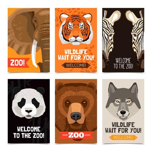Dieren Mini Posters Set vector