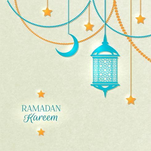 Ramadan Light Colour Poster vector