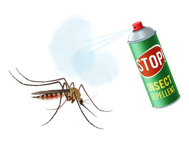 Anti-muggenspray vector