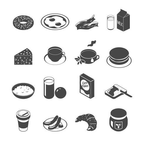 Ontbijt Icon Set vector