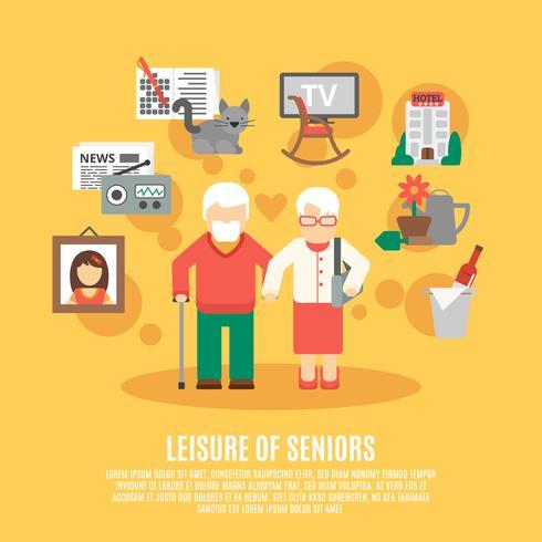 Platte Senior Poster vector