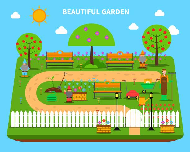 Tuin concept illustratie vector