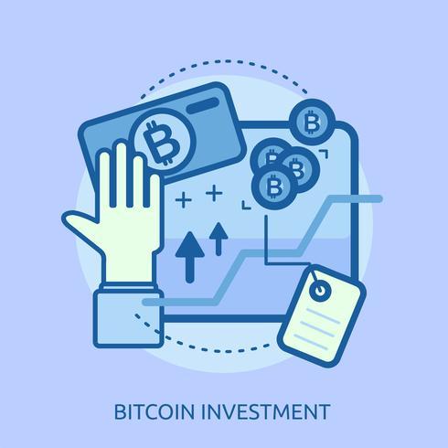 Dollarinvestering Conceptueel illustratieontwerp vector