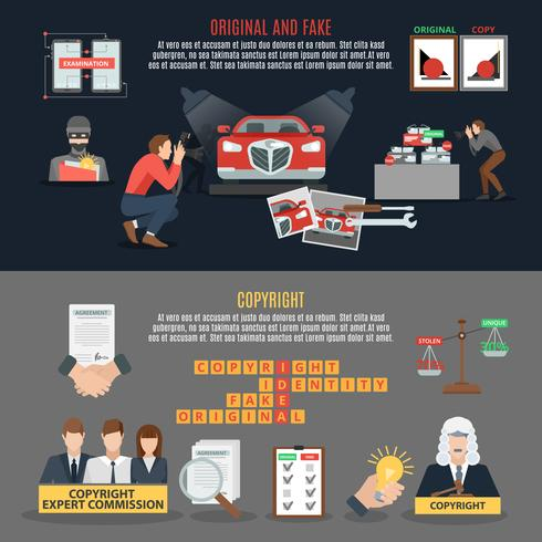 Copyright Compliance horizontale banners vector