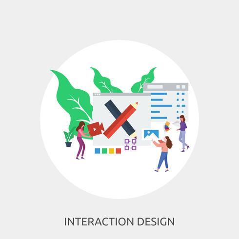Interactieontwerp Conceptueel illustratieontwerp vector