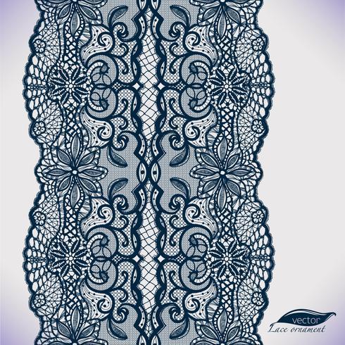 Naadloos kantornament. Sjabloon frame ontwerp. Lace kleedje. Kan worden gebruikt voor verpakking, uitnodigingen vector