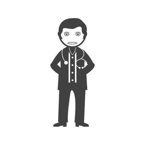 Doctor Glyph Black pictogram vector