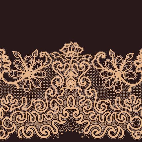 Abstract kant lint naadloze patroon. vector