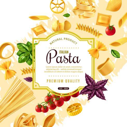 Pasta decoratief frame vector