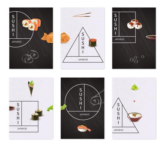 Japanse Sushi Banner Set vector