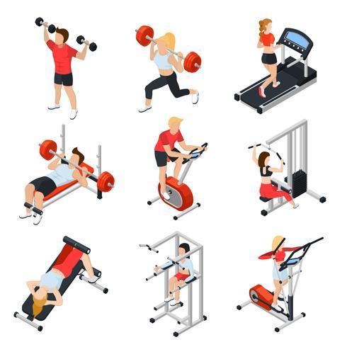 Gym Isometrische Set vector